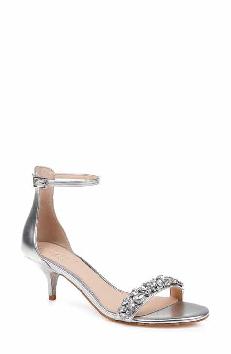 3980d779d5c Jewel Badgley Mischka Dash Embellished Halo Strap Sandal (Women)