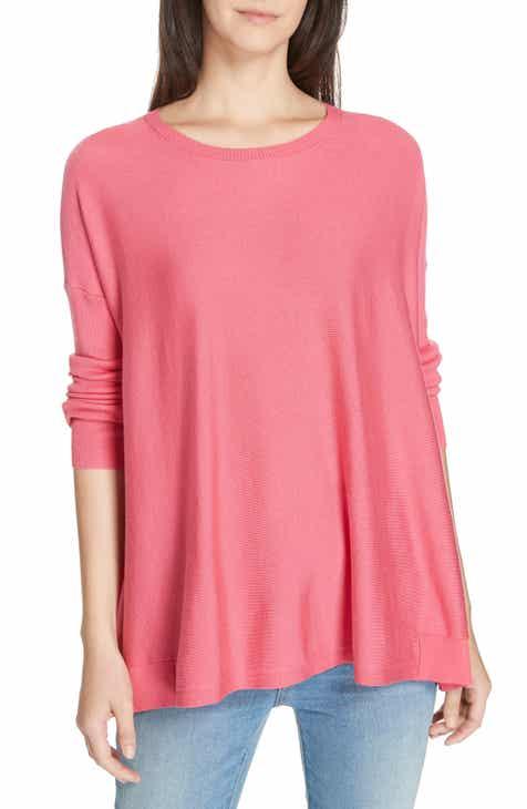 27508ac8ce2 Eileen Fisher Tencel® Lyocell Blend Sweater (Plus Size)