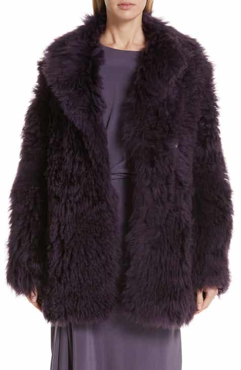 7d201329a4e Sies Marjan Pippa Tigrado Genuine Shearling Coat
