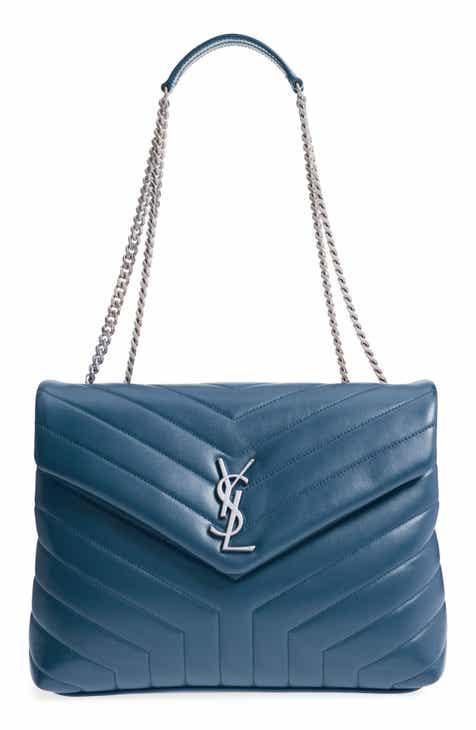 561801fc305a Saint Laurent Medium Loulou Calfskin Leather Shoulder Bag