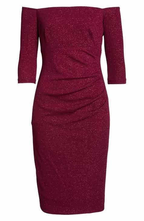 Eliza J Off the Shoulder Sheath Dress (Regular & Petite)