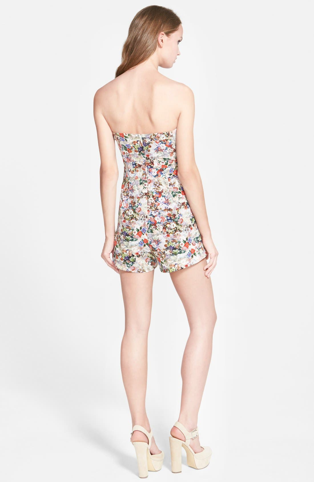 Alternate Image 2  - Glamorous Strapless Sweetheart Romper