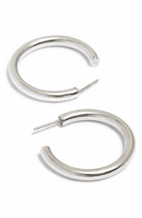 Madewell Chunky Medium Hoop Earrings