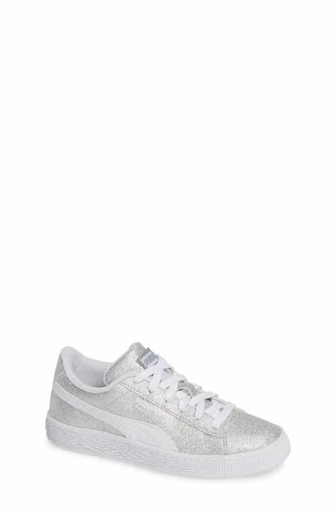 628e0343c3d PUMA Basket Holiday Glitz Shoe (Toddler, Little Kid   Big Kid)