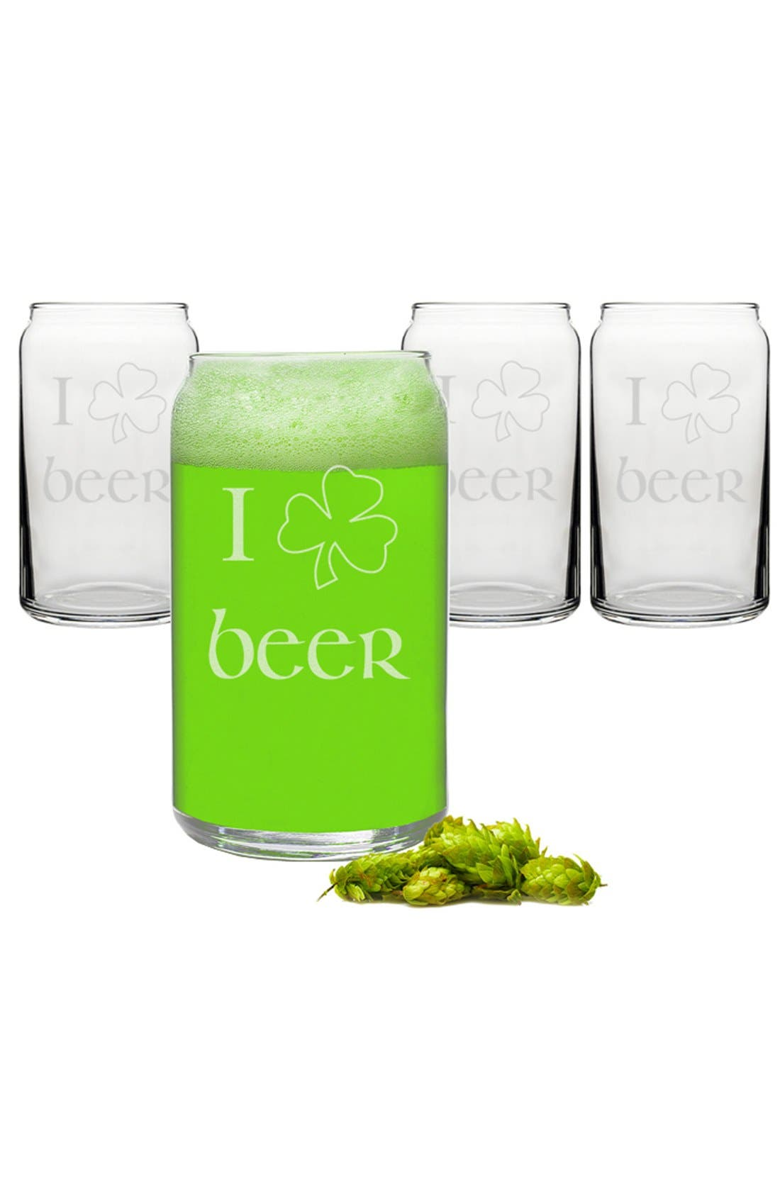 Alternate Image 2  - Cathy's Concepts St. Patrick's Day Beer Can Glasses (Set of 4)