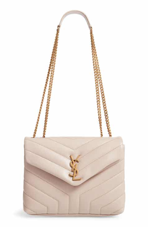 1a7107ad4927 Saint Laurent Small Loulou Leather Shoulder Bag