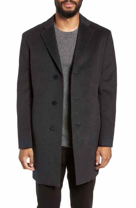 Nordstrom Men's Shop Troy Trim Fit Wool Blend Coat