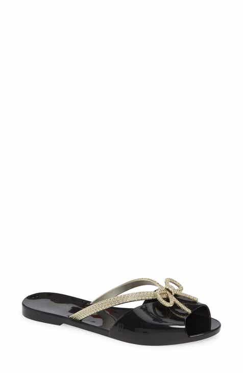 91e63eeb81ea66 Melissa Ela Chrome Slide Sandal (Women)