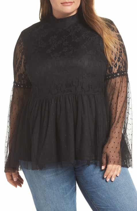 f6f6e2b67a9a LOST INK Cocktail Lace Top (Plus Size)