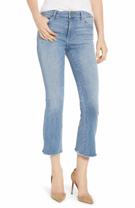 L'AGENCE Bell High Waist Flare Jeans (Blue Cloud) by LAGENCE