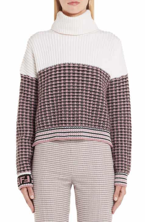 0f815d9633 Fendi Microcheck Wool   Cashmere Sweater