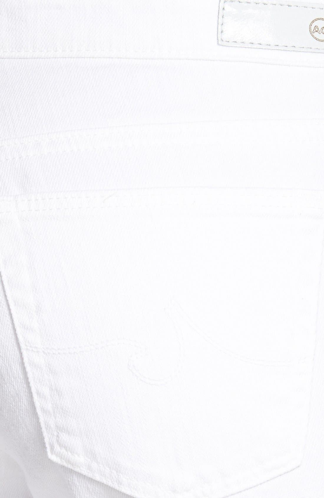 Alternate Image 3  - AG 'Stilt' Roll Cuff Skinny Jeans (White)