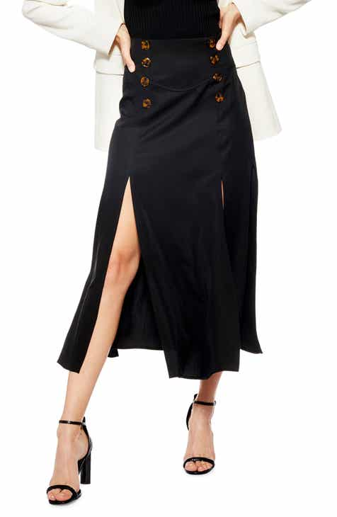 Topshop Splice Midi Skirt d3e42a86b