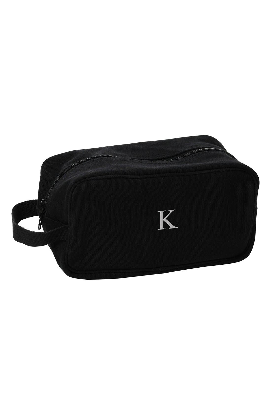 Alternate Image 1 Selected - Cathy's Concepts Monogram Canvas Travel Bag