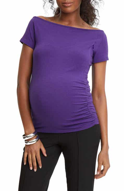 90dbc06ee48 Stowaway Collection Off the Shoulder Maternity Nursing Top