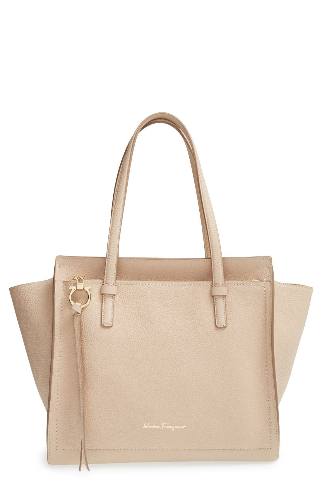 Salvatore Ferragamo Medium Amy Calfskin Leather Tote