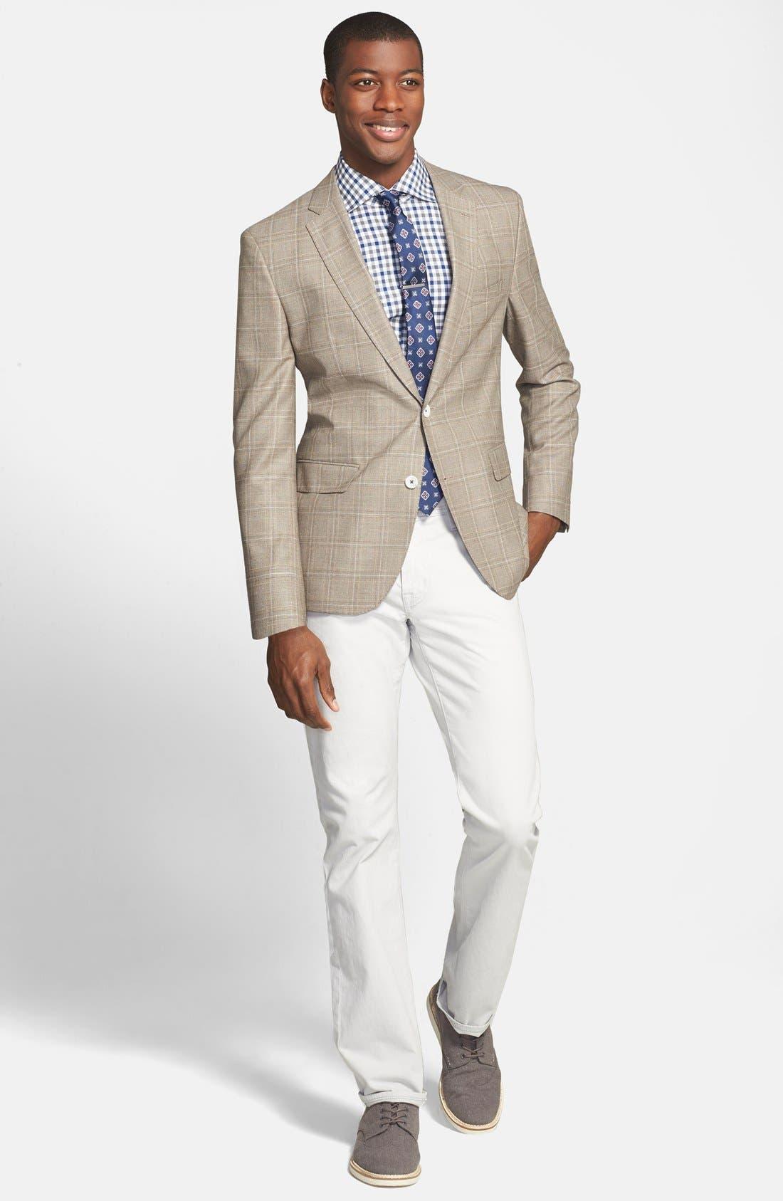 Alternate Image 4  - BOSS 'Jarett' Trim Fit Plaid Wool Blend Sport Coat