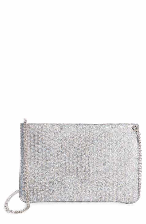 ca99243047 Christian Louboutin Loubiclutch Metallic Leather Crossbody Clutch