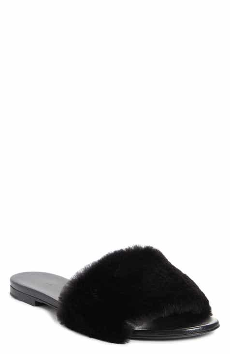 Jenni Kayne Genuine Mink Fur Slide Sandal (Women)