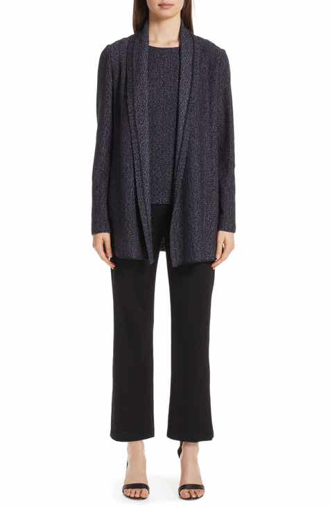 St. John Collection Milano Knit Side Slit Crop Pants by ST. JOHN COLLECTION