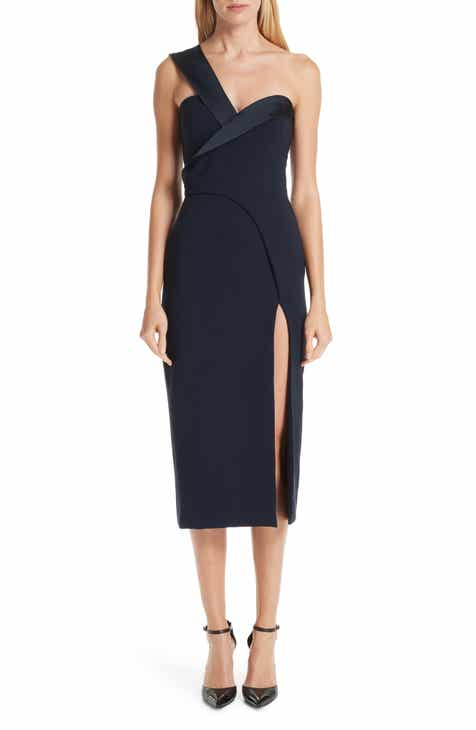 Brandon Maxwell Fold Over One-Shoulder Dress by BRANDON MAXWELL