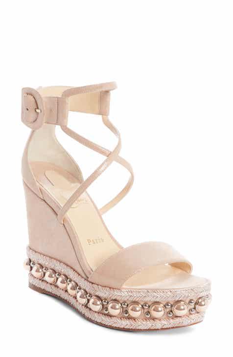 213ed46d41f0 Christian Louboutin Chocazeppa Ornament Platform Wedge Sandal (Women)