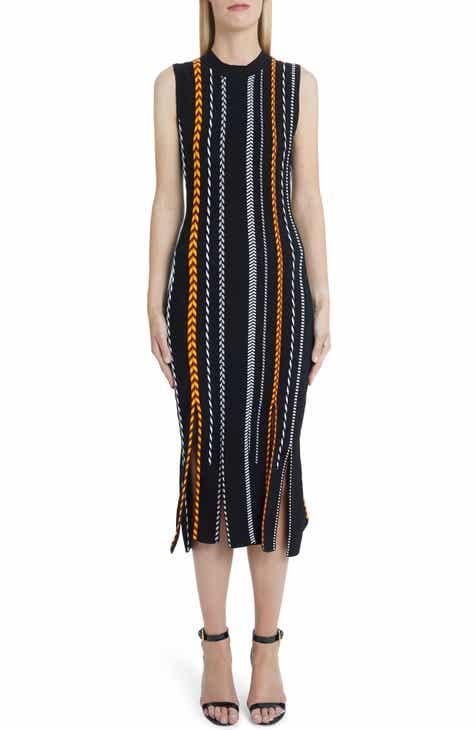 Versace First Line Rib Detail Sheath Dress by VERSACE FIRST LINE
