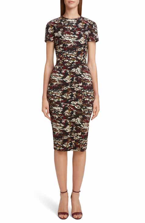 Victoria Beckham Camouflage Jacquard Dress by VICTORIA BECKHAM
