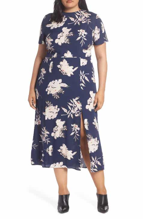 Leith Print Midi Dress (Plus Size) 13802709c897
