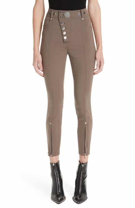 57bbe003608a38 Alexander Wang Asymmetrical Fly Legging Pants