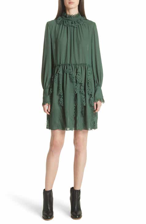 See By Chloé Eyelet Detail Dress