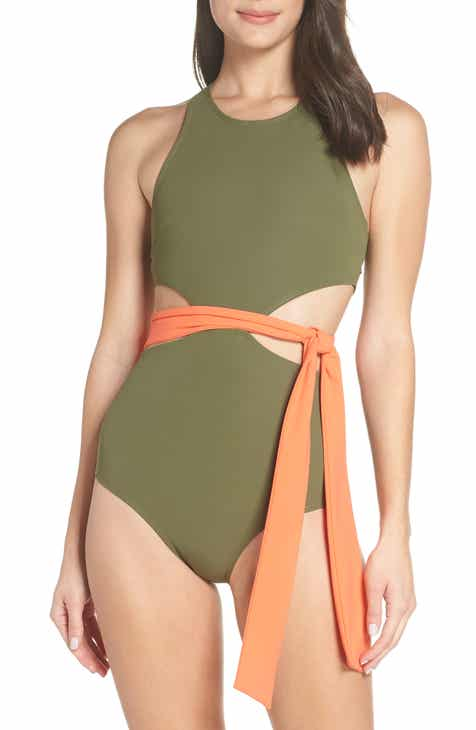 Flagpole Lynn One-Piece Sash Swimsuit by FLAGPOLE
