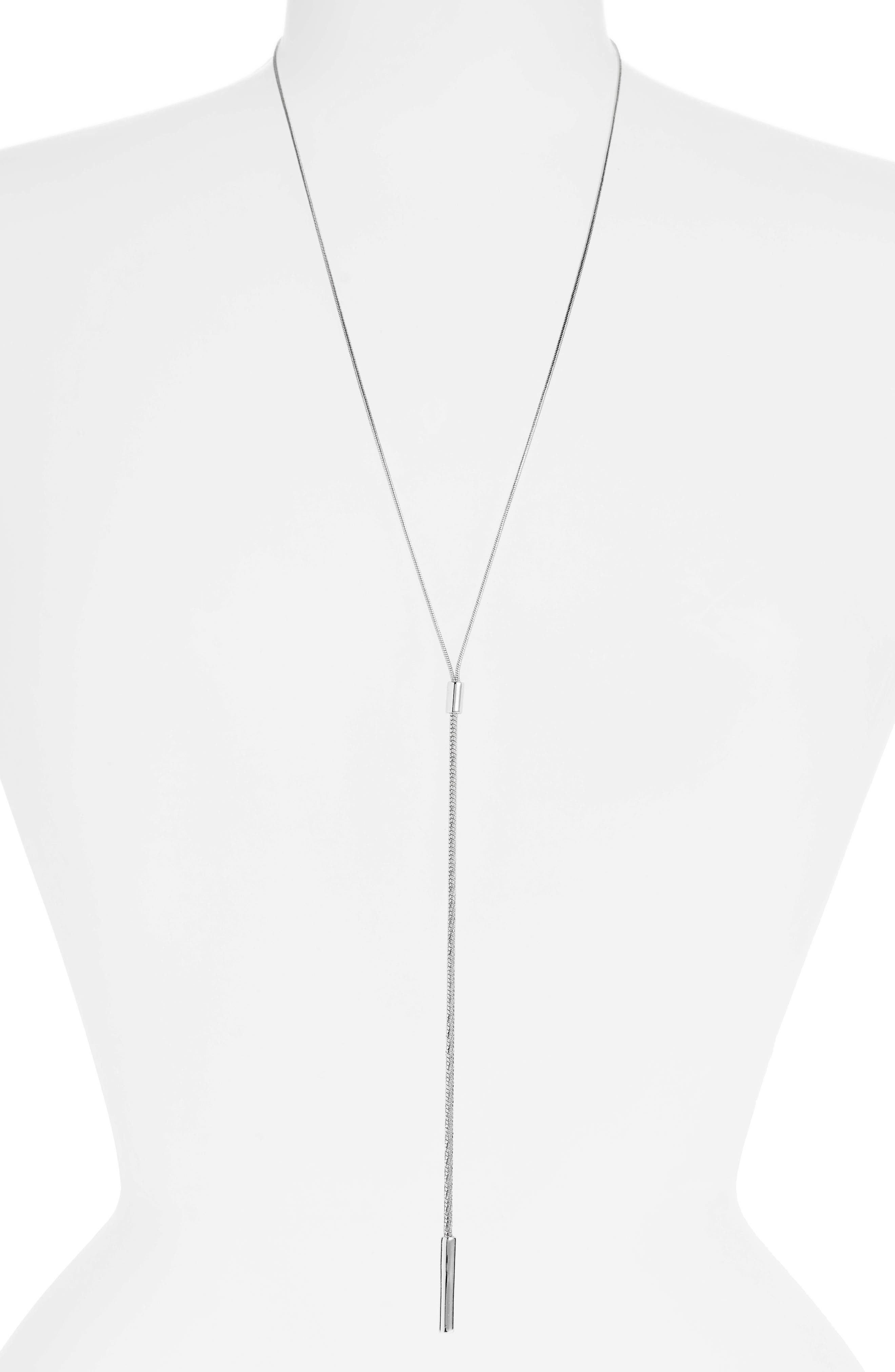 Organic Lariat Lariat Necklace Sterling Silver Lariat  Adjustable Necklace  Statement Necklace