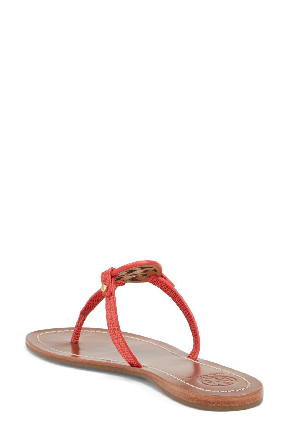 Alternate Image 2  - Tory Burch 'Mini Miller' Leather Thong Sandal (Women)
