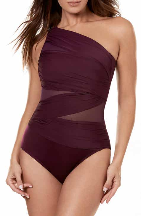 b93d33b7947 Miraclesuit® Jena One-Shoulder One-Piece Swimsuit