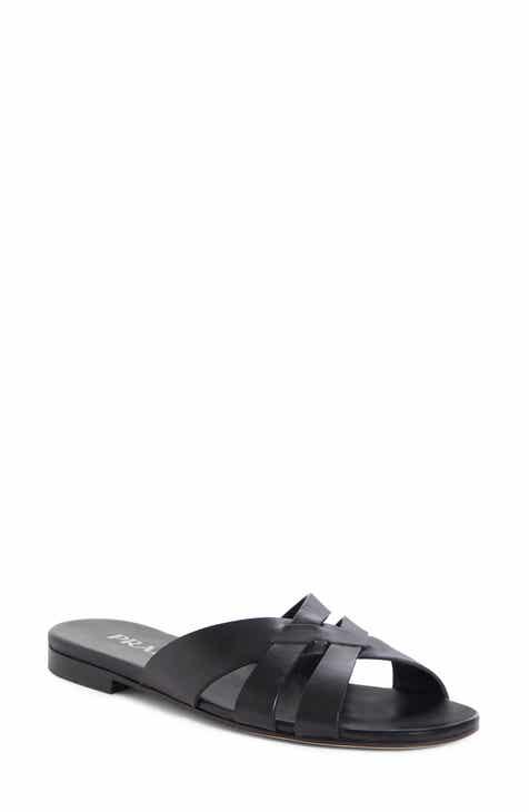 4be7a094cd5a Prada Woven Strap Slide Sandal (Women)