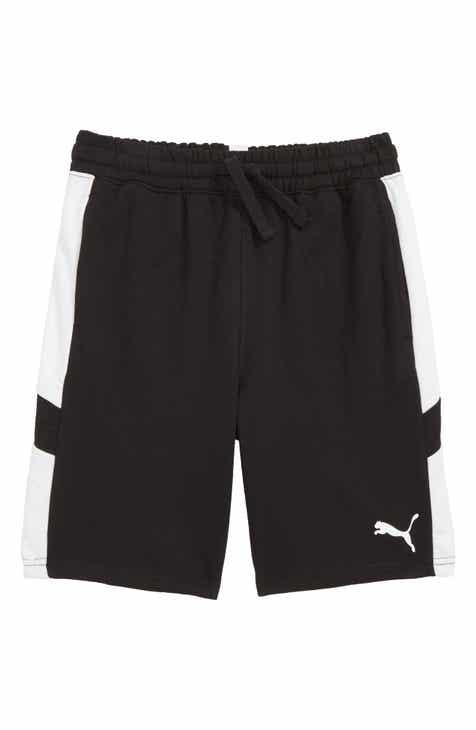 PUMA Pieced Fleece Shorts (Big Boys)
