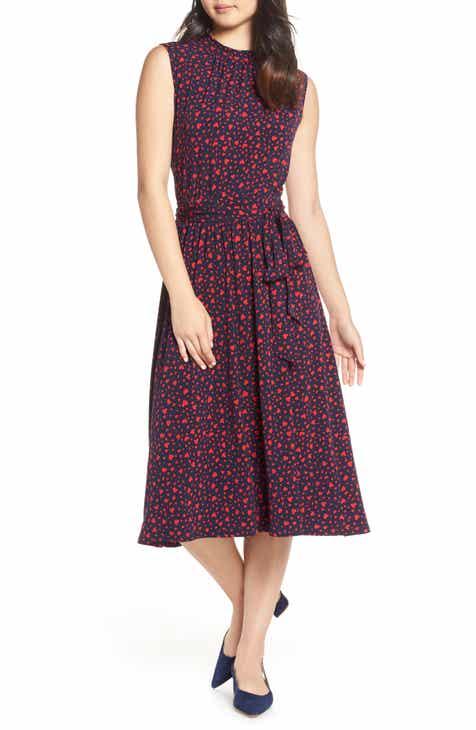 b1b19e56034f0 Leota Mindy Shirred Midi Dress