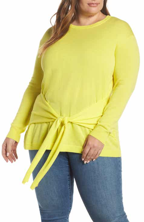 95aa0566097 Vince Camuto Tie Front Sweater (Plus Size)
