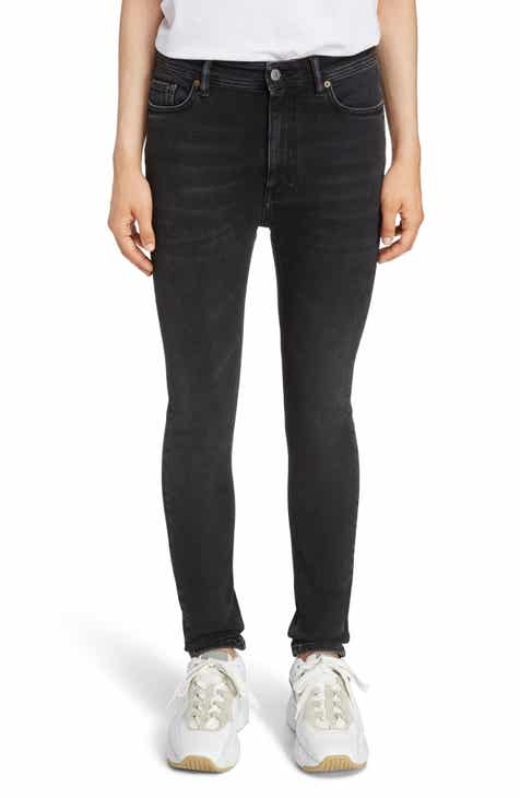 1d2008f3b3 Acne Studios Peg High Waist Skinny Jeans (Used Black)