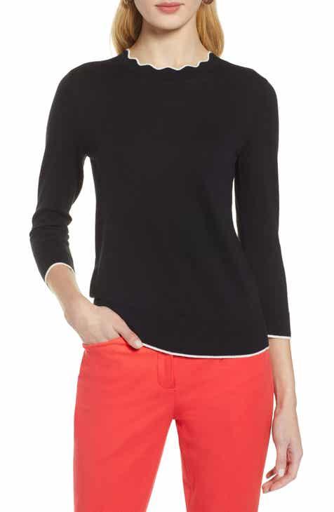 Halogen® Scallop Neck Sweater (Regular   Petite) e4886409b