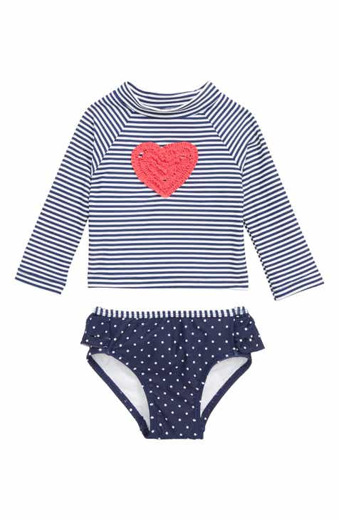a2df5dfc46a Little Me Ruffle Heart Two-Piece Rashguard Swimsuit (Baby)