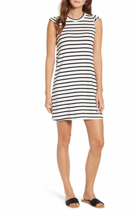 Gibson X Hi Sugarplum! Laguna Soft Jersey Ruffle Back T-Shirt Dress (Regular & Petite) (Nordstrom Exclusive) By GIBSON by GIBSON #2