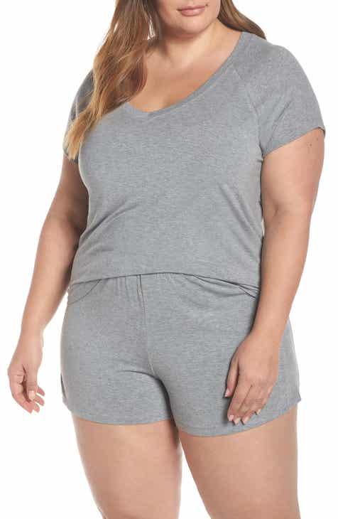Nordstrom Lingerie Breathe Rib Mix Short Pajamas (Plus Size) b203c17b0