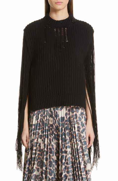 CALVIN KLEIN 205W39NYC Fringe Sleeve Sweater by CALVIN KLEIN 205W39NYC
