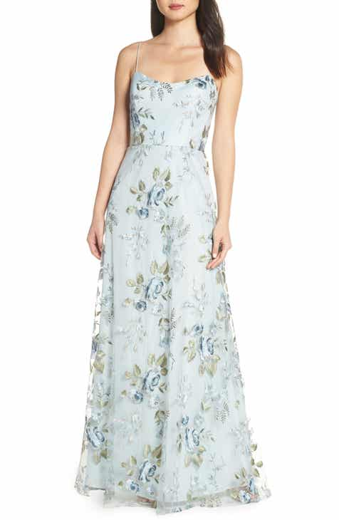 0bff5cb80 Jenny Yoo Drew Floral Embroidered Tulle Evening Dress