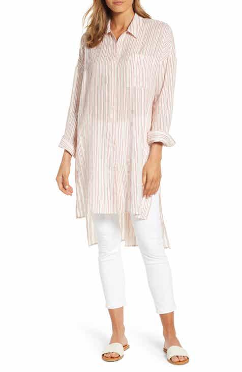 8a931aff2b4 Lou   Grey Dobby Stripe Cotton Tunic Top
