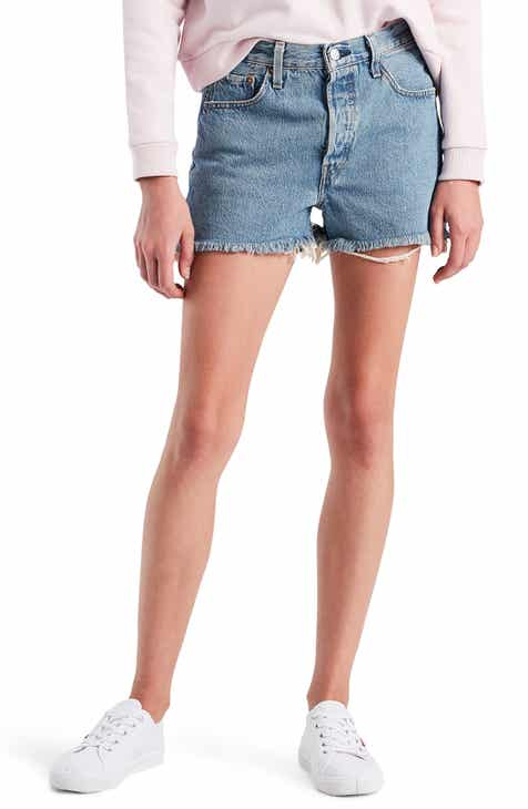 6373b6728d604b Levi s® 501® High Waist Cutoff Denim Shorts (Flat Broke)