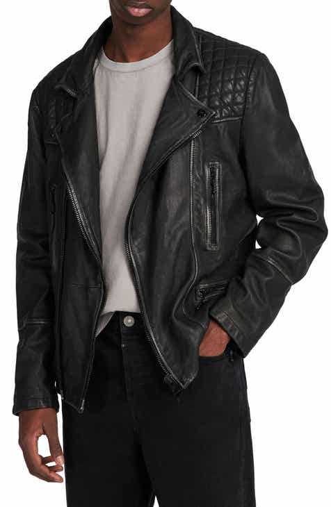d6b72703c40 ALLSAINTS Cargo Biker Slim Fit Leather Jacket