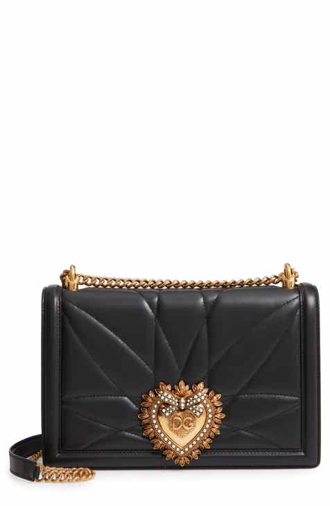 Dolce Gabbana Large Devotion Lambskin Leather Shoulder Bag 9b15bca1d3c64
